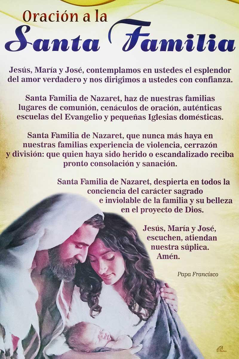 Afiche-Devoción número 93-Oración a la santa familia