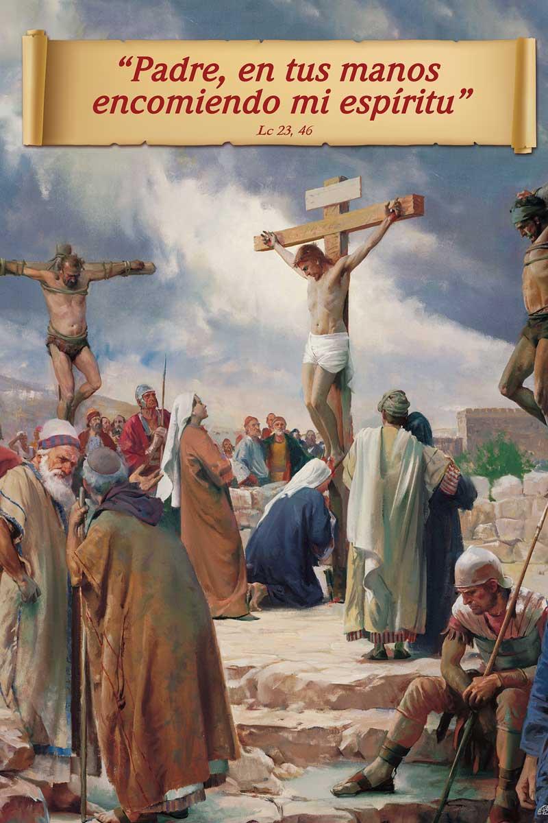 Afiche-Devoción número 94-Padre en tus manos encomiendo mi espíritu
