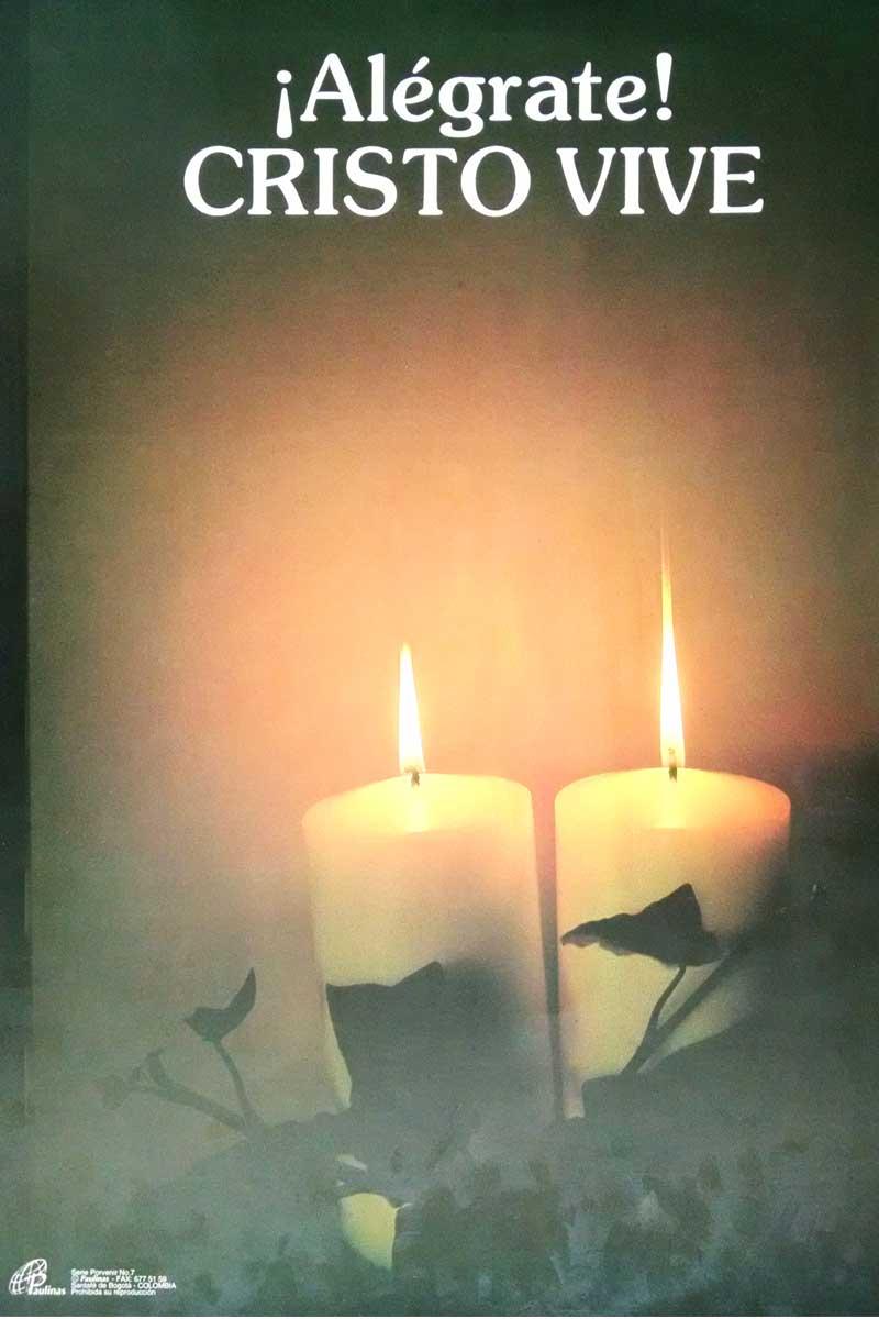 Afiche-Porvenir-número 7-!Alegrate¡ Cristo vive