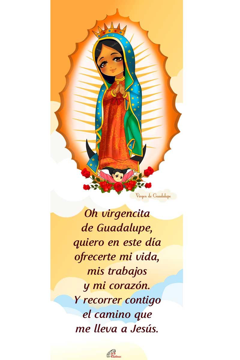 Afiche-Santos infantiles-número 2- Virgen de Guadalupe