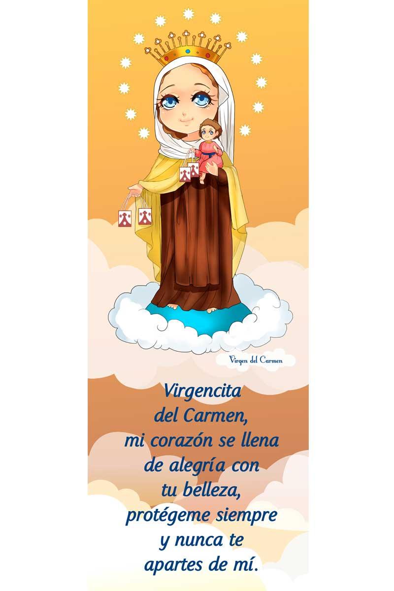 Afiche-Santos infantiles-número 3- Virgen del Carmen