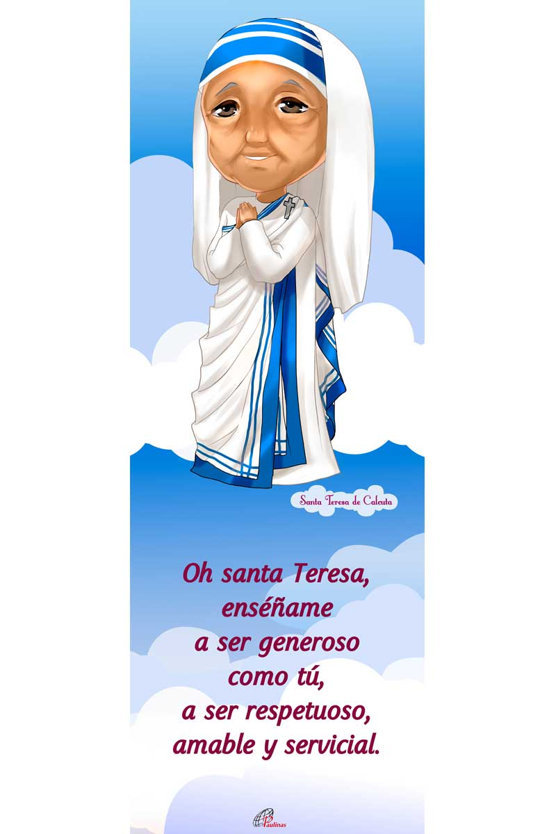 Afiche-Santos infantiles-número 4- Santa Teresa de Calcuta