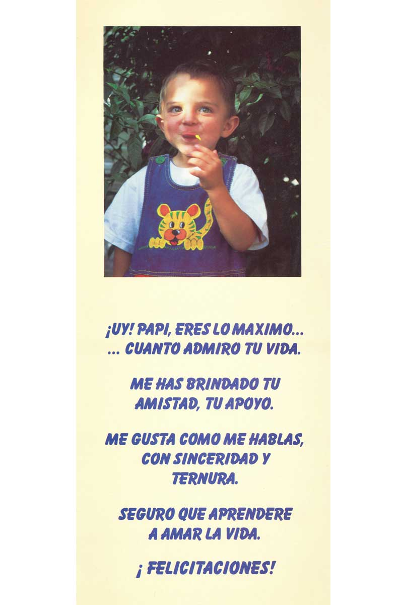 Afiche-Vitaminas-número 8- Felicitaciones, papá