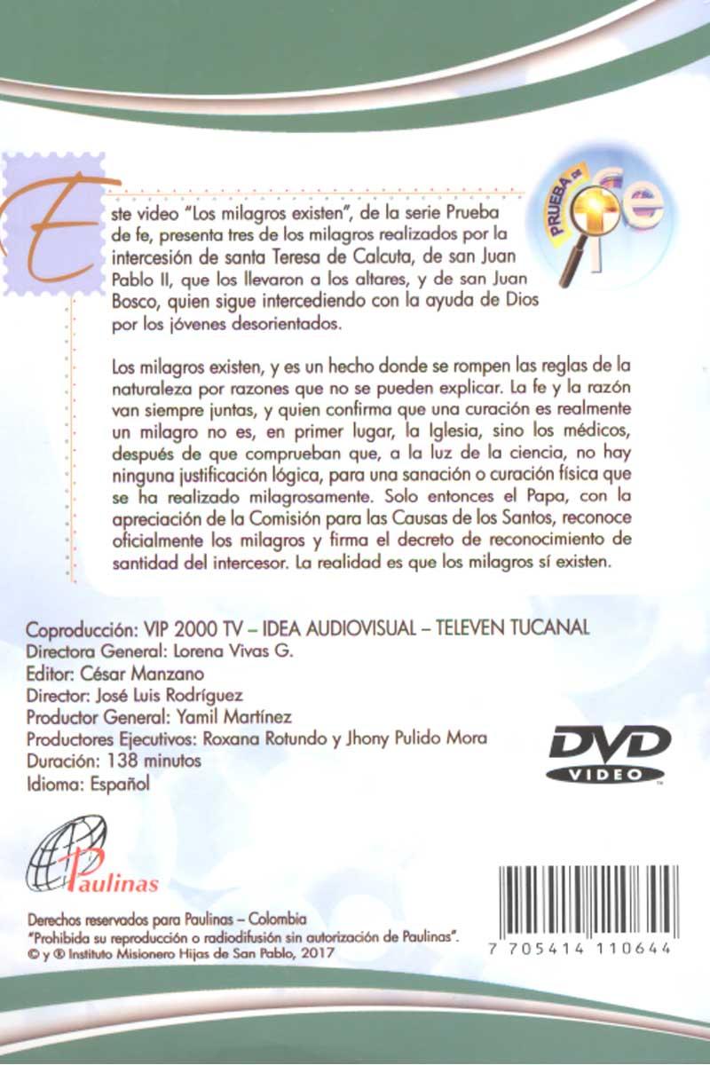 Los Milagros existen, prueba de fe -DVD