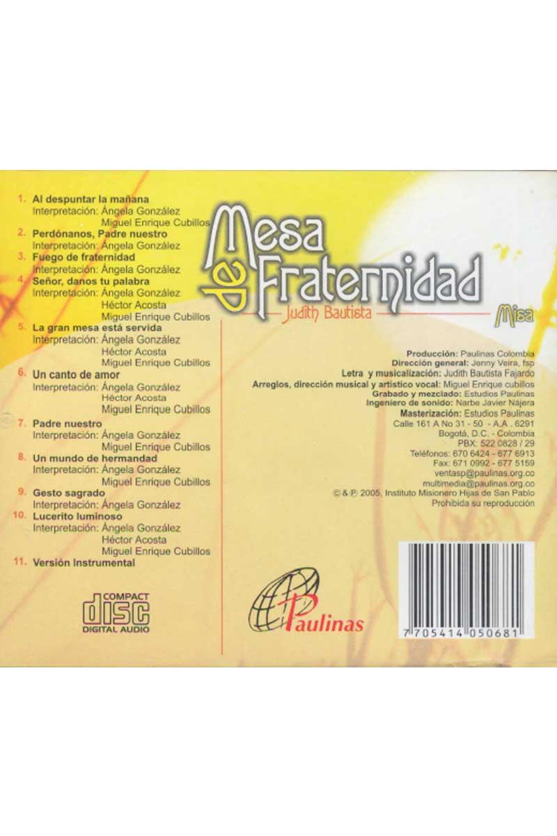 Mesa de fraternidad -CD