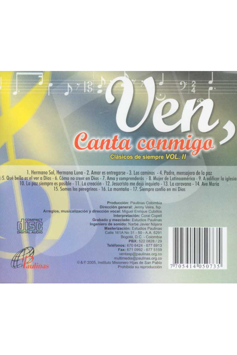 Ven, canta conmigo. Volumen 2 -CD