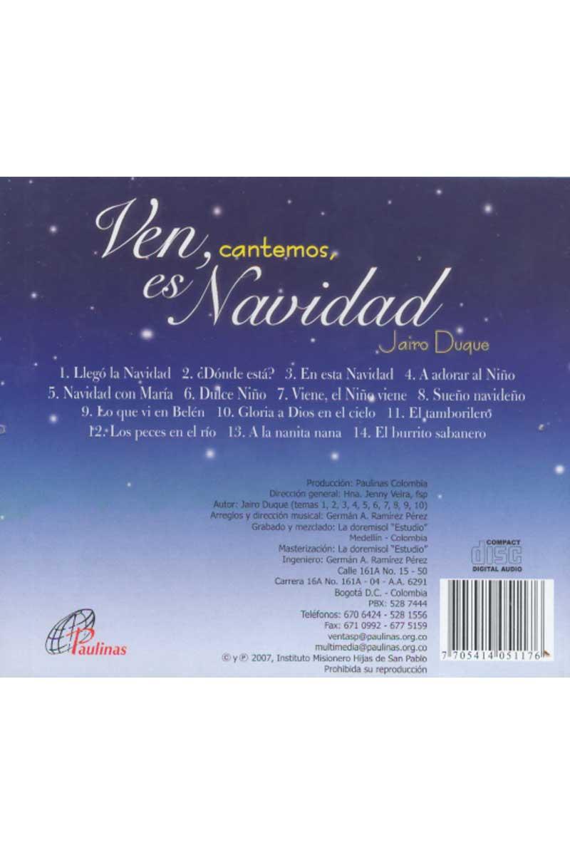 Ven, cantemos, es Navidad -CD