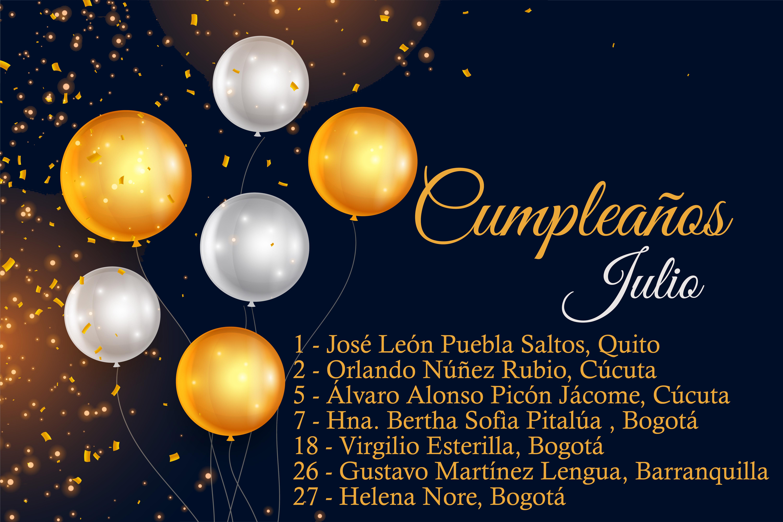 Cumpleaños Cooperadores - Julio